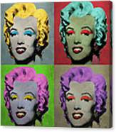 Vampire Marilyn Set Of 4 Canvas Print