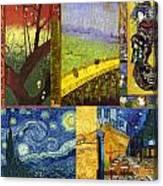 Van Gogh Collage Canvas Print