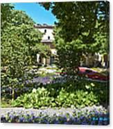 Van Gogh - Courtyard In Arles Canvas Print
