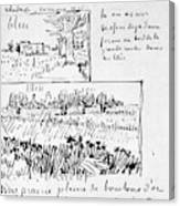 Van Gogh Letter, 1888 Canvas Print