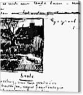 Van Gogh Letter Canvas Print