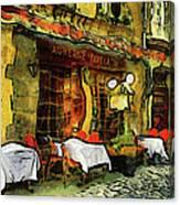 Van Gogh Style Restaurant Canvas Print