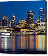 Vancouver Bc City Skyline Reflection Canvas Print