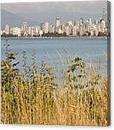 Vancouver Bc Downtown From Hasting Mills Park Canvas Print