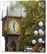 Vancouver Bc Historic Gastown Steam Clock Canvas Print