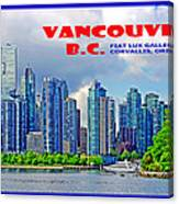 Vancouver Bc Iv Canvas Print