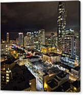 Vancouver Bc Robson Street Cityscape Canvas Print
