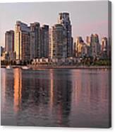 Vancouver Bc Waterfront Condominiums Canvas Print