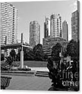 Vancouver Canada Skyscrapers And Park Canvas Print