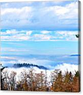 Vancouver Fog From Burnaby Mtn Canvas Print
