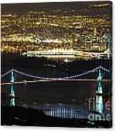 Vancouver Nightlights Canvas Print