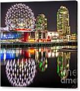 Vancouver Science World In False Creek - By Sabine Edrissi Canvas Print