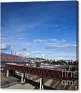 Vancouver Shipyards Canvas Print