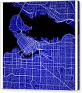 Vancouver Street Map - Vancouver Canada Road Map Art On Colored  Canvas Print