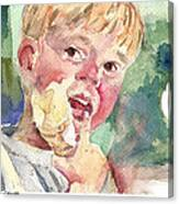 Vanilla Cone Canvas Print