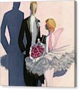 Vanity Fair Cover Featuring A Man In A Tuxedo Canvas Print