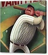 Vanity Fair Cover Featuring Babe Ruth Canvas Print