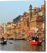 Varanasi From The Ganges River Canvas Print