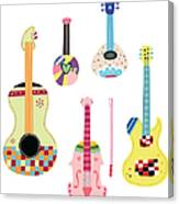Various Kinds Of Stringed Instruments Canvas Print