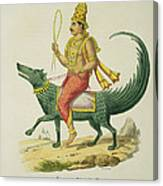 Varuna, God Of The Oceans, Engraved Canvas Print