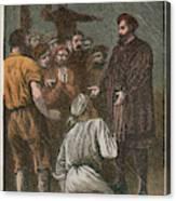 Vasco Da Gama On His Way To The East Canvas Print