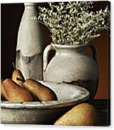 Vase Bowl Pears Canvas Print