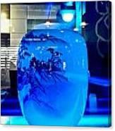 Vase Impression Bluish Canvas Print