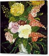 Vase Of Flowers, 1886 Canvas Print