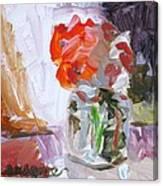 Vase Of Flowers II Canvas Print