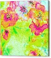 Vase Of Spring Flowers Canvas Print