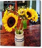 Vase Of Sunflowers Canvas Print
