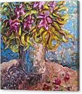 Vased Spring Lilies Canvas Print
