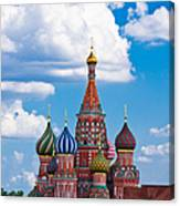 Vasily The Blessed Cathedral And The Red Square Of Moscow - Featured 3 Canvas Print