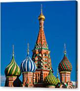 Vasily The Blessed Cathedral On Moscow Red Square - Featured 2 Canvas Print