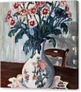 Vaso Con Fiori Canvas Print