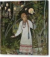 Vassilissa In The Forest Canvas Print