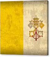 Vatican City Flag Vintage Distressed Finish Canvas Print
