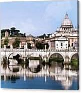 Vatican City Seen From Tiber River Canvas Print