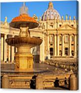 Vatican Morning Canvas Print