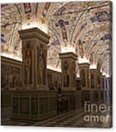 Vatican Museum Vaulted Ceiling Artwork Canvas Print