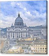Vatican On A Winter Afternoon Canvas Print