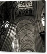 Vaults Of Rouen Cathedral Canvas Print