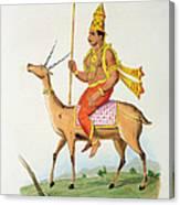 Vayu, Engraved By C. De Motte Canvas Print