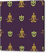 Vector Design Yoga Pose Pattern Canvas Print