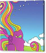 Vector Illustration Of Psychedelic Canvas Print