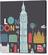 Vector London Symbols Canvas Print