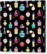 Vector Seamless Perfume Pattern Canvas Print