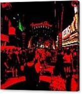 Vegas At Night Canvas Print