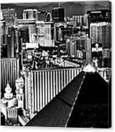 Vegas Black And White Canvas Print