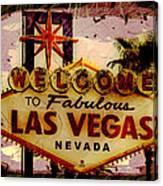 Vegas Destructed Canvas Print